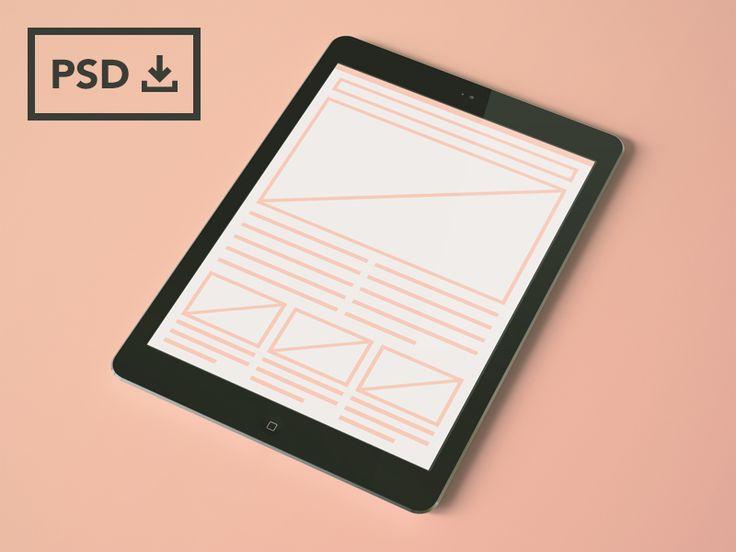 iPad Air Mockup Templates [PSDs] by Thomas McKay