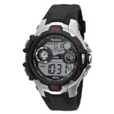 Armitron Men's 408197RED Sport Silver-Tone Digital Chronograph Watch (Watch)