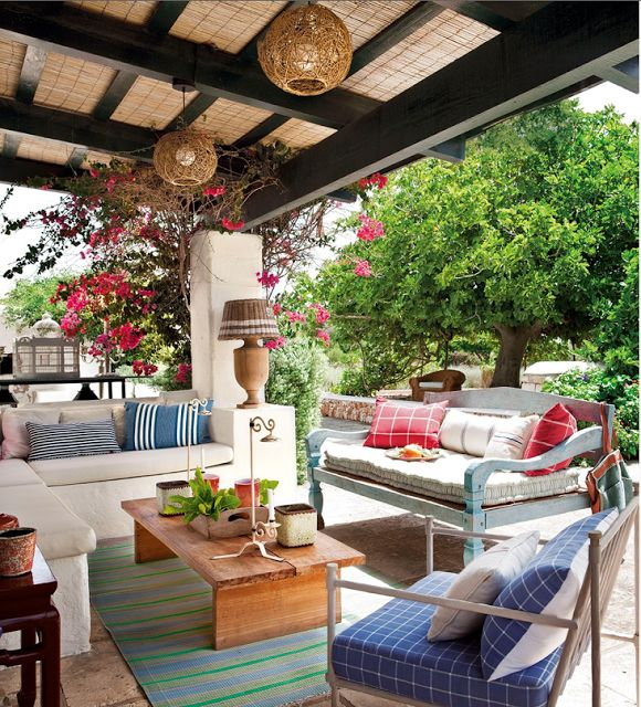 Similar Patio cover idea -- frame, use bamboo fencing... CASA TRES CHIC: November 2013