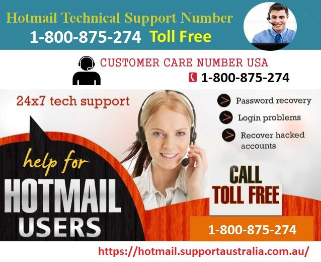 Dial Hotmail tech support toll-free number 1-800-875-274 to fixed Hotmail account related issue