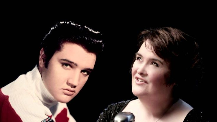 Elvis Presley en Susan Boyle - o come all ye faithful 2013