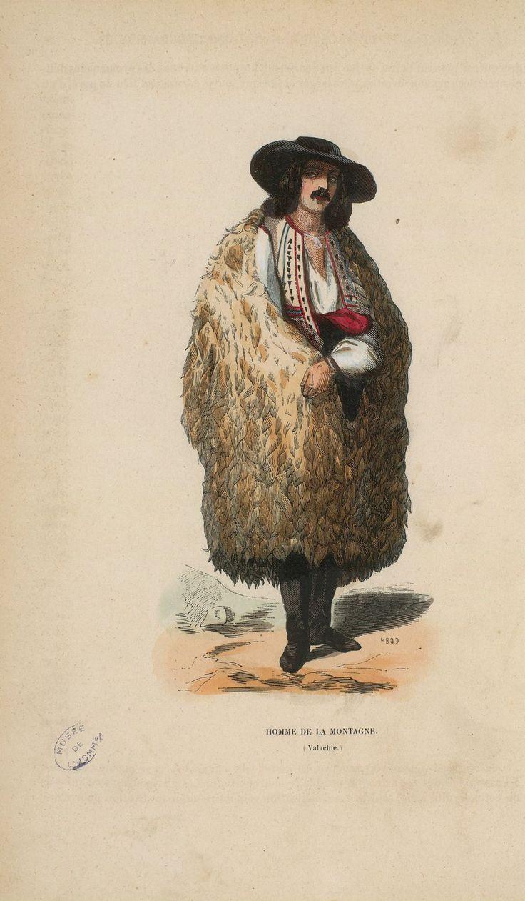 """Auguste Wahlen - Wallachian highlander from  'Illustrations de Moeurs, usages et costumes de tous les peuples du monde"""", 1843"""