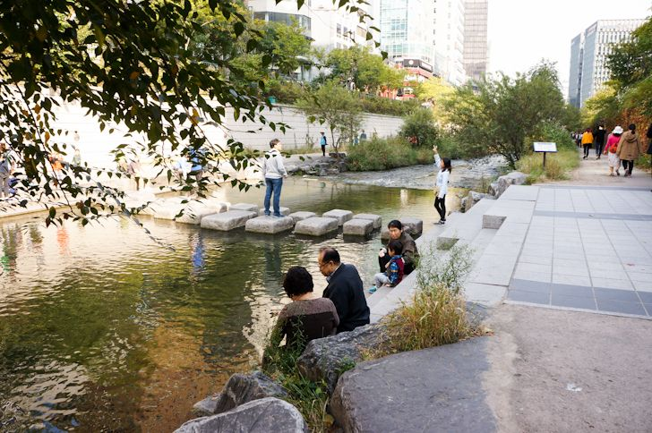 At the heart of Seoul lies one of the world's greatest urban design projects: the Cheonggyecheon River linear park.