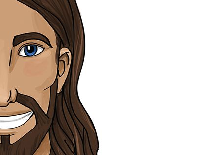"""Check out new work on my @Behance portfolio: """"Ilustración de Jesús"""" http://on.be.net/1QBcpTM"""