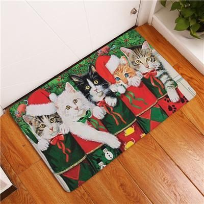 New Cat Mats Home Decor Cute Cats Carpets Non-slip Kitchen Rugs For Home Living Room Floor Mats 40x60cm 50x80cm Garden Supplies