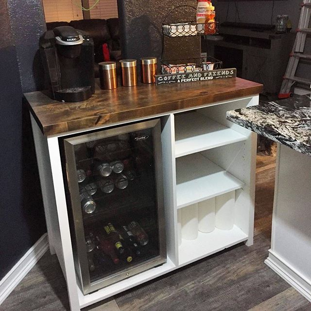 Custom Mini Fridge Storage Cabinet Made By Theawesomeorange