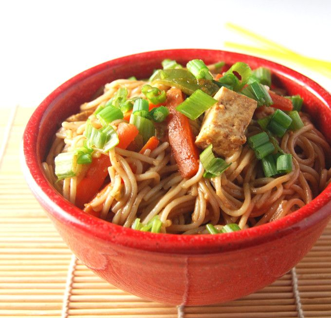 Thai Noodles in a Spicy Peanut Sauce | Recipe