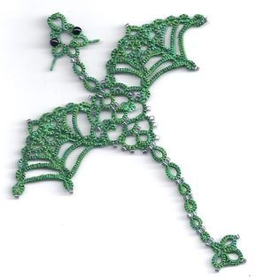 I miss tatting. gonna star up again. wish there where people interested in learning how. I'd love to show them! not a hugely popular art. Maybe I can revive it around here? lol Tatting Fool: Here Be Dragons