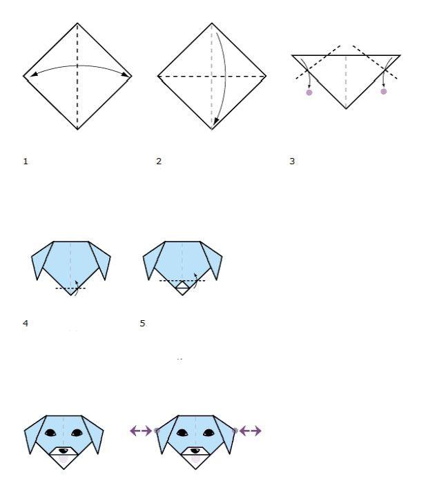 Origami Hondje voor kinderen