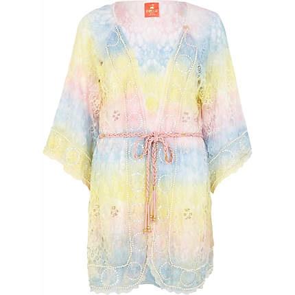 Pink Pacha rainbow lace kimono - pacha - swimwear / beachwear - women