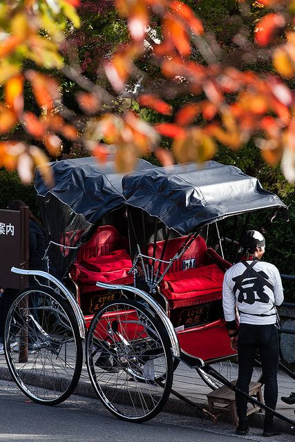Japanese rickshaw in Kyoto
