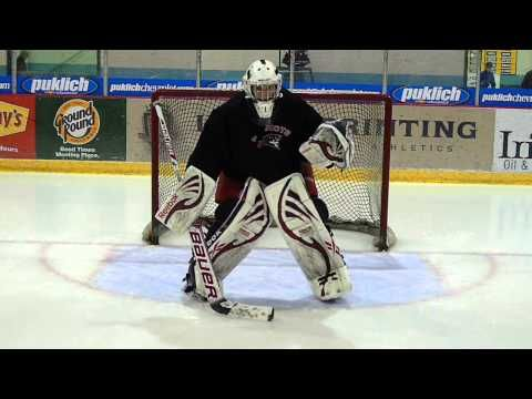 Here are several drills that goalies may perform to begin each practice. The X, W, Z, Post-Movement, and Hour Glass Drills are each beneficial for movement in and around the crease. If goaltenders master these drills, they may consider executing them with their eyes closed to better insure confidence on crease location. Goalrobber Drill of the Week #27 Skating Warmup Drills