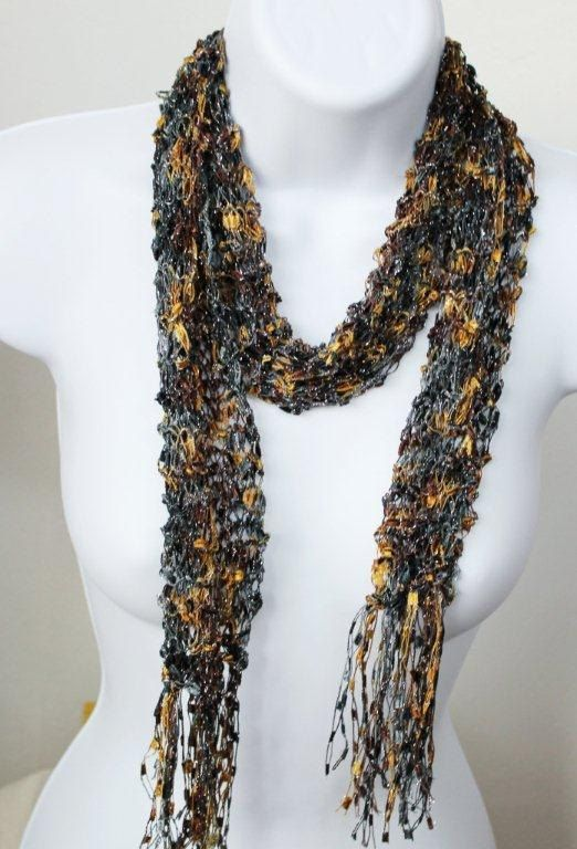 Free Knitting Pattern For Ribbon Scarf : free crochet scarf patterns for ribbon yarn Free Crochet ...