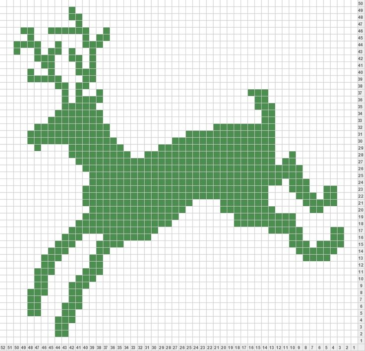 Reindeer Knitting Pattern Chart : 1270 best cross stitch images on Pinterest