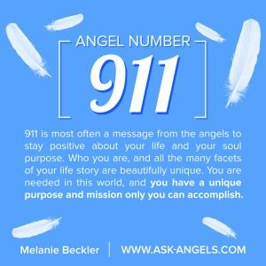 Angel Number 911 is a highly karmic and spiritual number that encourages you to pursue your life purpose and soul mission as a lightworker. It tells of leadership and living life as a positive example in order to illuminate the way for others to follow. Angel Number 911 is a vibration of spiritual enlightenment and awareness and of reaping karmic rewards for work well done.