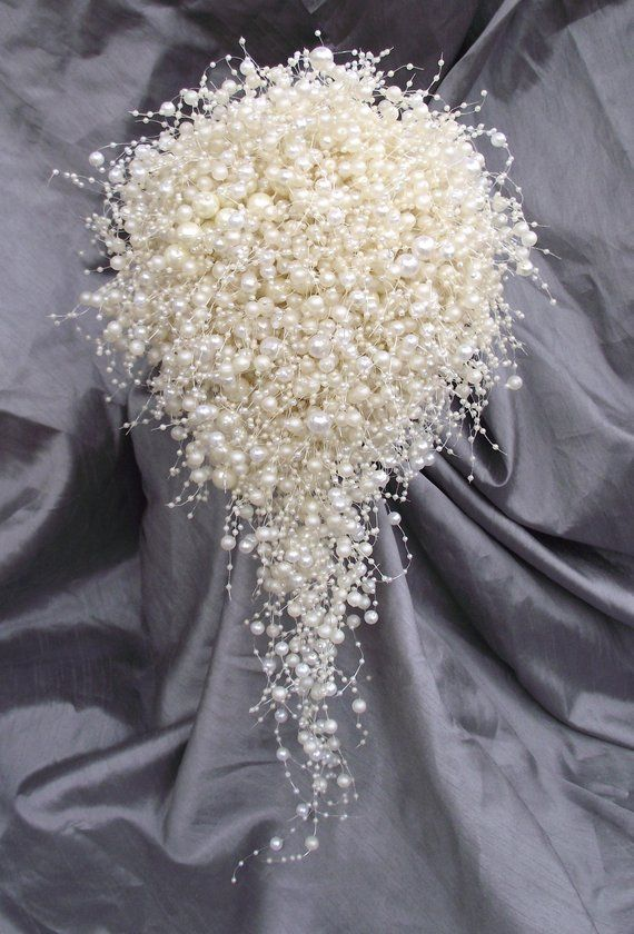 Gold Crystal Prom Parti robe de Mariage Strass Perle Broche Bouquet Pin Hot
