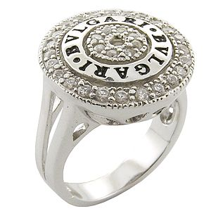 925 sterling silver bvlgari ring silvery silver