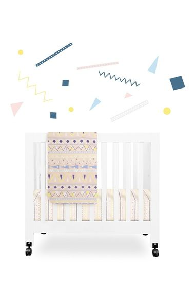 babyletto 'Desert' Mini Crib Sheet, Changing Pad Cover, Stroller Blanket & Wall Decals available at #Nordstrom