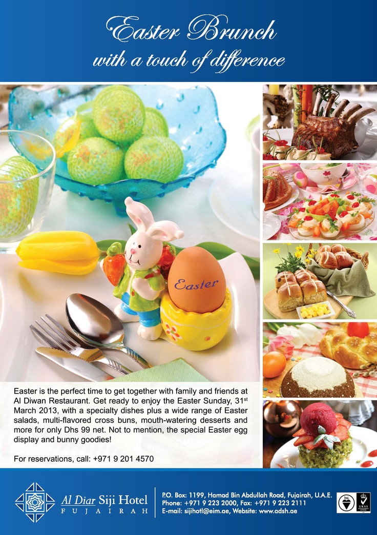 Al Diar Siji Hotel invites you to experience the Easter Brunch with a touch of difference!!!