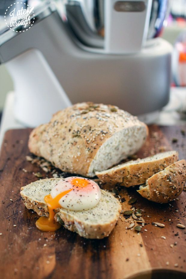 Product Review: Tefal Cuisine Companion + Recipes for 5 Seed Bread with Sous Vide Eggs, Homemade Focaccia, and Risotto Milanese | I Ate My Way Through