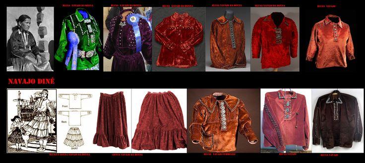Comunque anche il Bill ha lasciato il passo ai più pittoreschi abiti di stile ispanico e Pueblo. Camicie e gonne a pieghe sono decisamente di gusto spagnolo, mentre come per gli uomini pettinature e i mantelli-corta seguono l'uso Pueblo.