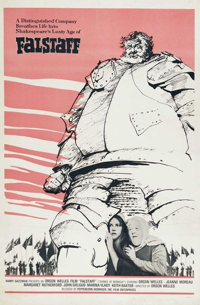 """FALSTAFF – CHIMES AT MIDNIGHT (1965), meine Nr. 10 (von 10) in der Reihe ORSON WELLES anlässlich dessen 100. Geburtstags im METROPOLIS Kino Hamburg. Welles selbst hielt diesen Film für seinen besten: """"If I wanted to get into heaven on the basis of one movie, that's the one I would offer up."""" Und es ist ein wirklich großartiger Film mit einer atemberaubenden Schlachtszene und einem am Ende sehr traurigen Helden (sehr bewegend). Großes Kino von Orson Welles!"""