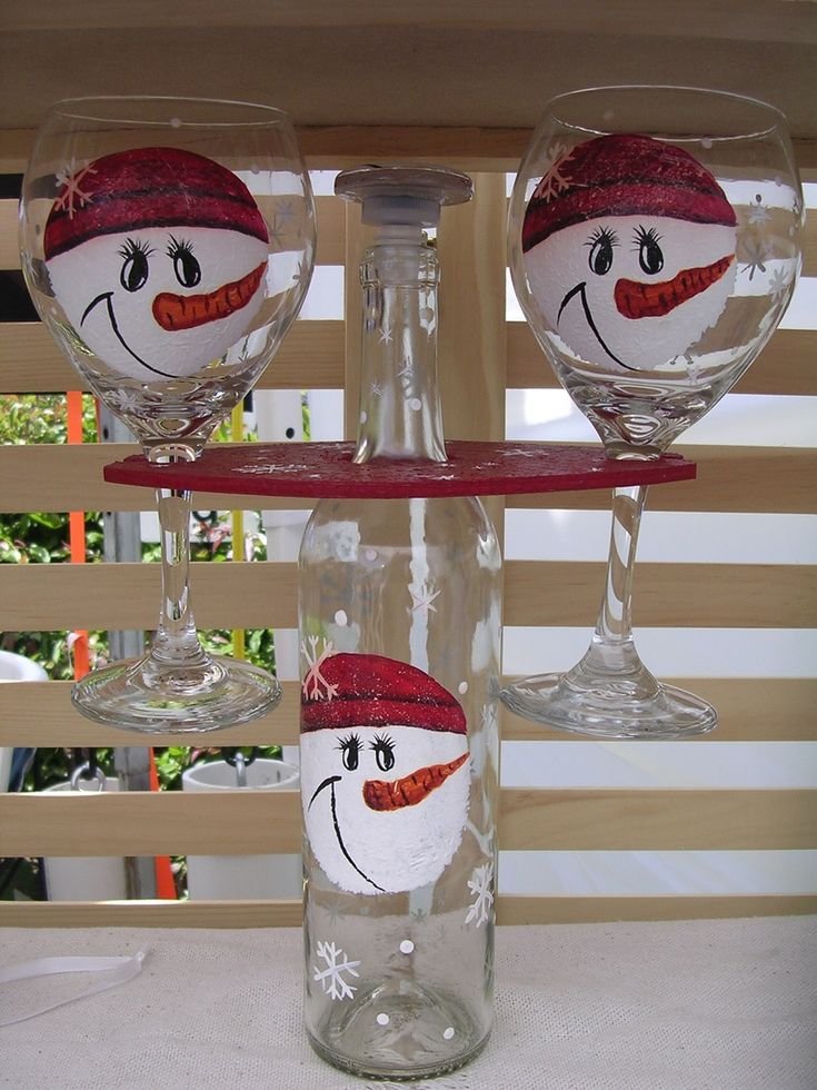 Hand Painted Glassware - Hand Painted Designs by Martee