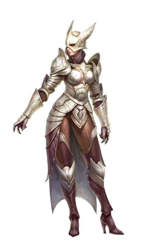 Female Fighter in Eagle Armor - Pathfinder PFRPG DND D&D d20 fantasy