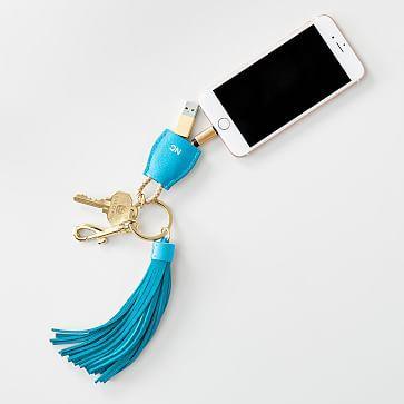 Power Up Lightning to USB Tassel Keychain #makeyourmark