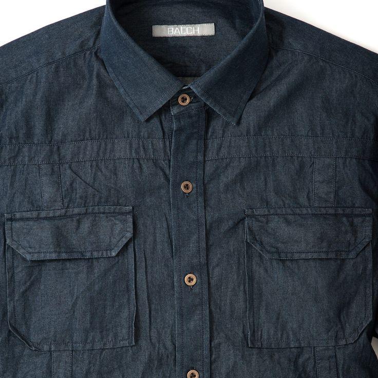 The Ambassador Denim Overshirt – Pocket Detail