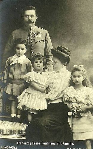 Archduke Franz Ferdinand of Austria Hungary with his family