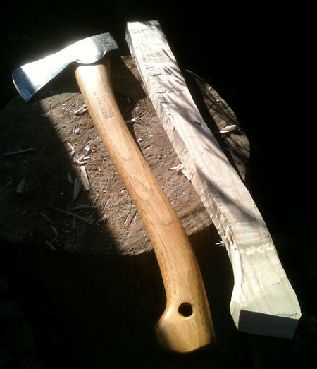 One of those little things you should know. Fitting a new axe handle