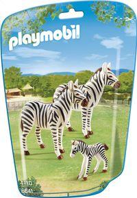 Playmobil City Life 6641 Zebrafamilie - verjaardagscadeau 4de verjaardag Milas van meter Katrijn en nonkel Fan