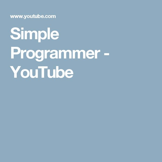 Simple Programmer - YouTube