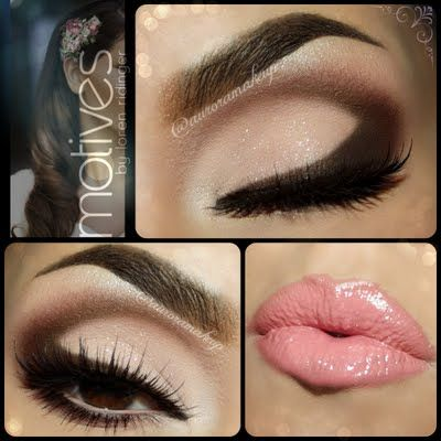 Bridal Glam Look by Aurora. Great wedding look for any season. Click the pic to see the the products that created this look! #beauty #wedding #bridal