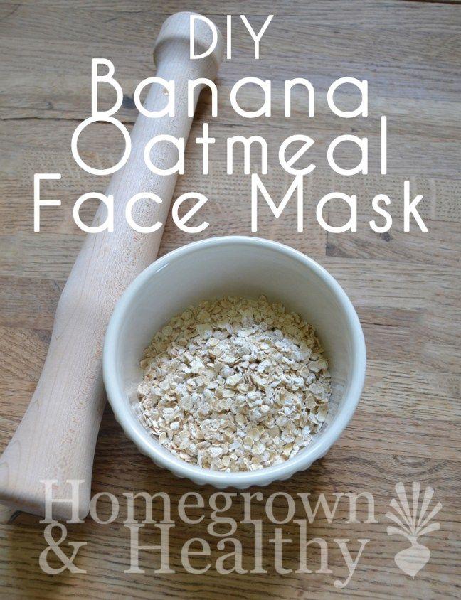 Simple DIY Banana Oatmeal Face Mask