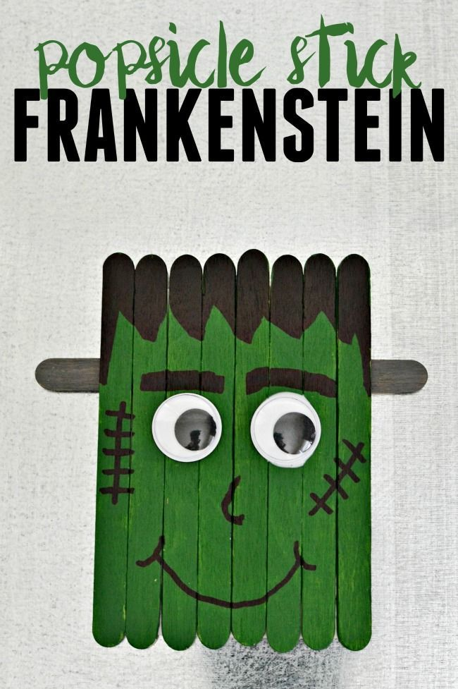 This little Frankenstein is perfect for crafting with your kids this Halloween. Attach a magnet and hang him on your fridge.