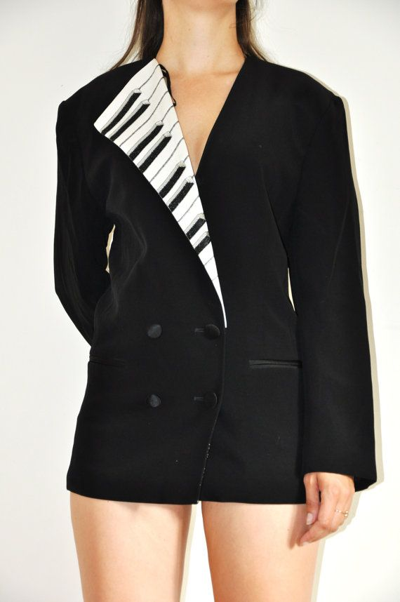 Vintage Piano Black Jacket by Vareika on Etsy, $35.00