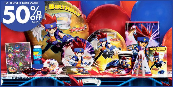 Beyblade Party Supplies Alan S Party Theme I Love Party