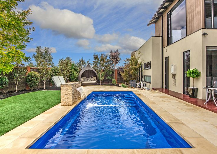 beautiful pool and water feature