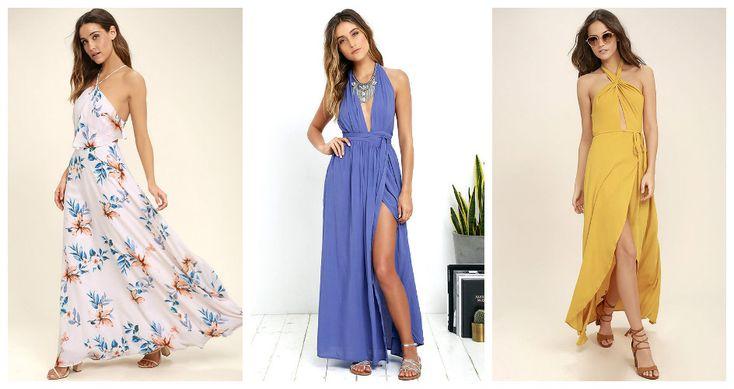 Избранные модели макси-платьев сезона лето 2017. Шифоновое и шелковое платье, платье из коттона и трикотажа