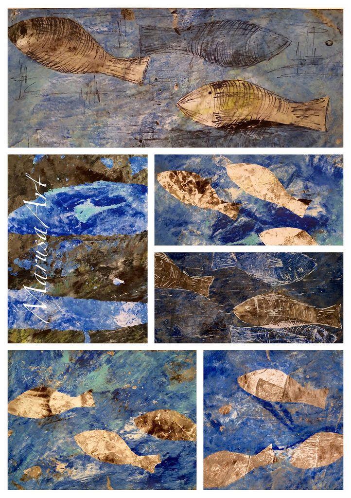 Fish (Gelatine Printing)