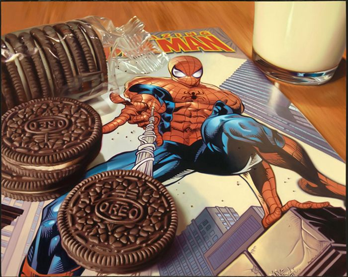 Hyperrealistic Painting by Doug Bloodworth: Artists, Oil Paintings, Dougbloodworth, Comic, Oils, Realistic Oil Painting, Junk Food, Doug Bloodworth, Photorealist Paintings