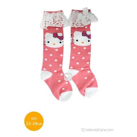 Kaos Kaki Anak Hello Kitty Socks (Pink Salem Polkadot Putih, Putih) Rp. 27.500  kunjungi: www.melindacare.com hubungi: 081321148408 atau 765BEE5E