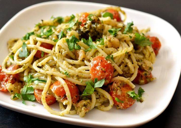 """Képtalálat a következőre: """"garnélás spagetti bazsalikom"""""""