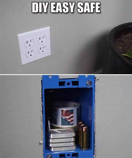 Your Own Secret Hidden Safe! For Under $2 | #preparedness #homesecurity