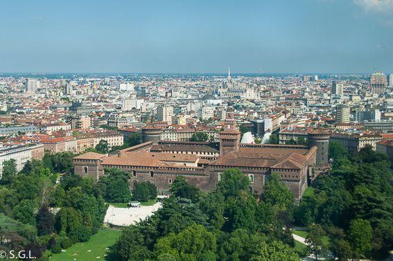 Vistas de Milan desde la torre Branca