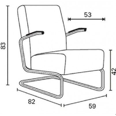 Gispen 405 fauteuil van Willem Hendrik Gispen