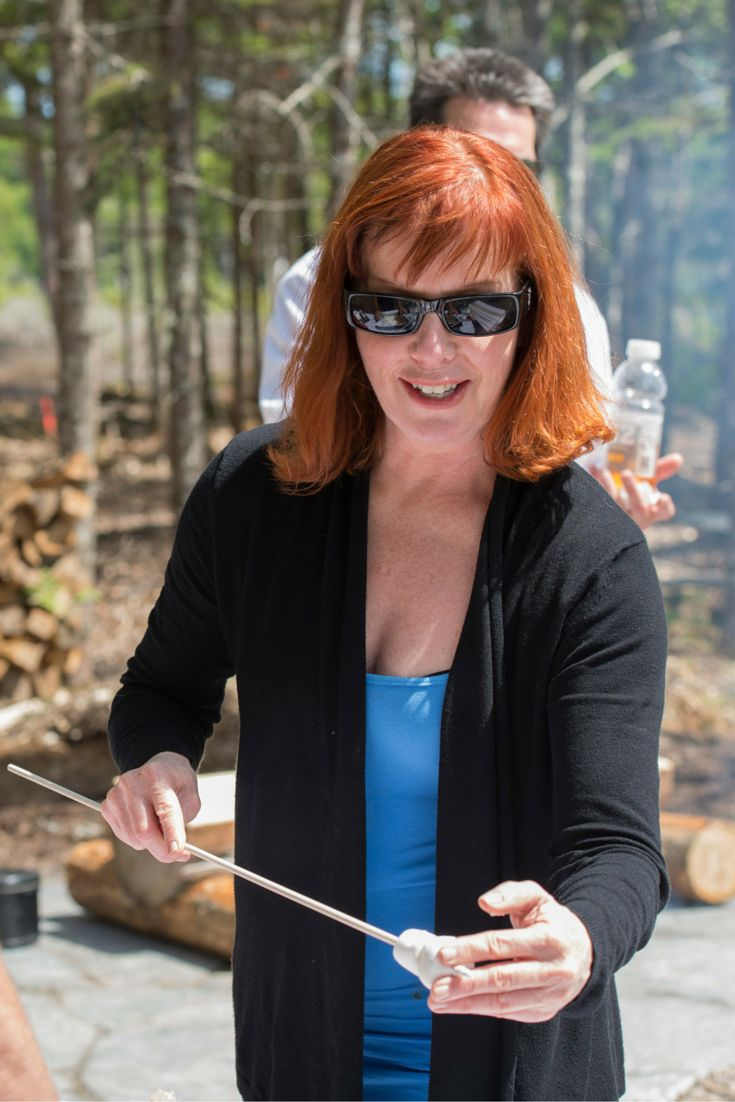June 20, 2015. Summer Celebration Event. Toasting marshmallows at the fire pit at the Boathouse. Perfect treat after kayaking.