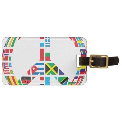 #Countries Peace Symbol Luggage Tag - #country gifts style diy gift ideas